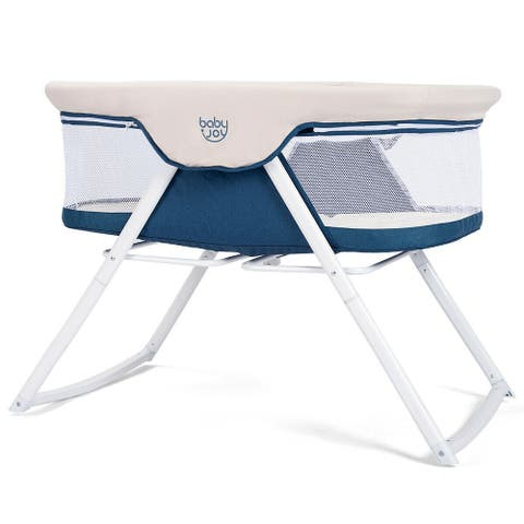 BabyJoy Foldaway Baby Bassinet Crib Newborn Rocking Sleeper Traveler