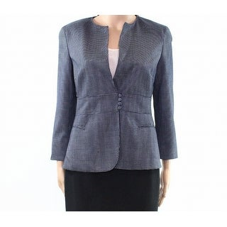 Max Mara NEW Navy Blue Womens Size 6 Pin Dot Print Button-Front Jacket