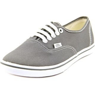 Vans Authentic Lo Pro Women Round Toe Canvas Gray Sneakers