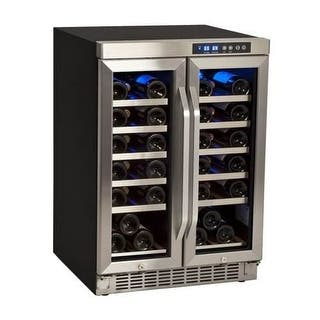 EdgeStar CWR361FD 24 Inch Wide 36 Bottle Built-In Wine Cooler with Dual Cooling Zones|https://ak1.ostkcdn.com/images/products/is/images/direct/64564a820014fea333420f103a300c75e74473e3/EdgeStar-CWR361FD-24-Inch-Wide-36-Bottle-Built-In-Wine-Cooler-with-Dual-Cooling.jpg?impolicy=medium