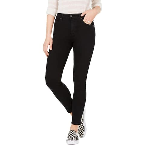 Adriano Goldschmied Womens Farrah Skinny Crop Jeans Destroyed High Rise