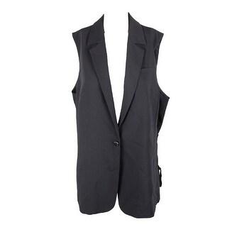 Rachel Rachel Roy Plus Size Black Lace-Up Vest 2X