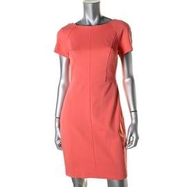 Cynthia Steffe Womens Short Sleeves Sheath Wear to Work Dress - 4