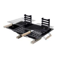 Marsh Allan 30002 Steel Hibachi Charcoal Grill, Black