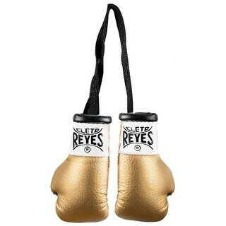 Cleto Reyes Miniature Pair of Boxing Gloves - Gold