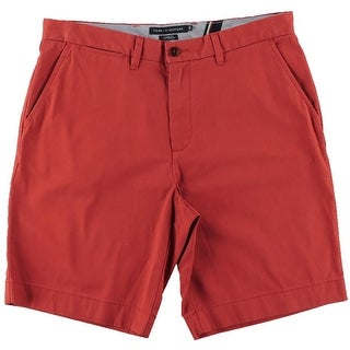 Tommy Hilfiger Mens Twill Classic Fit Khaki, Chino Shorts