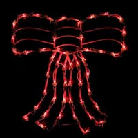 "18"" Lighted Red Bow Christmas Window Silhouette Decoration"