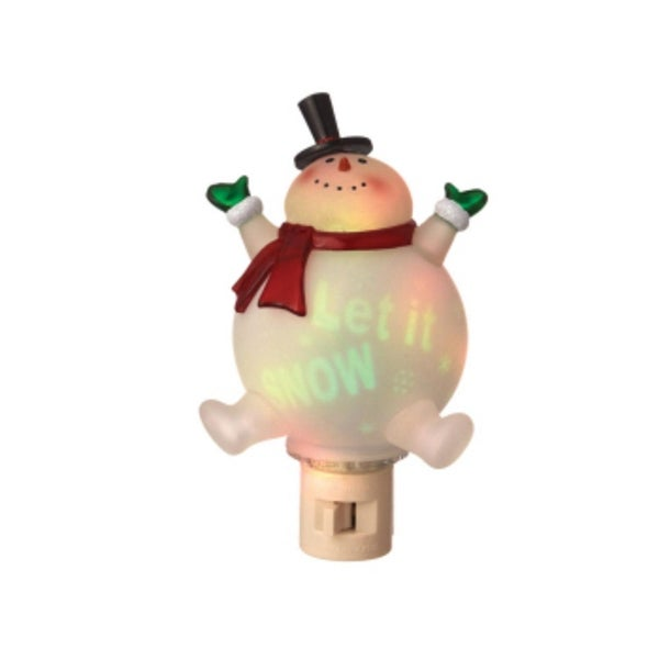 "6.5"" Let It Snow Snowman Projection Night Light - CLEAR"