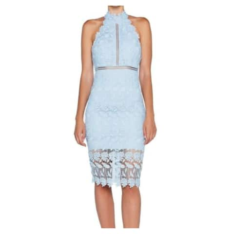 BARDOT Light Blue Sleeveless Below The Knee Dress 10\L