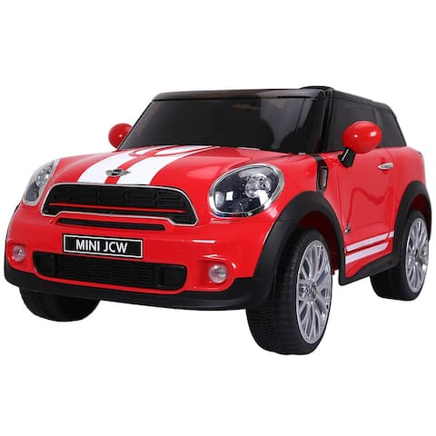 Gymax Red Electric MINI PACEMAN Kids Ride On Car Licensed R/C Remote