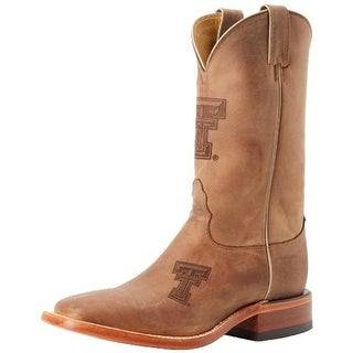 Nocona Boots Mens Texas Tech Leather Branded Logo Cowboy, Western Boots - 8.5 extra wide (e+, ww)