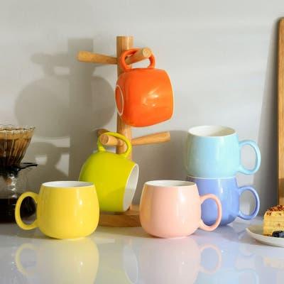 Panbado Nina 12 oz. Multi-Color Mugs, Set of 6