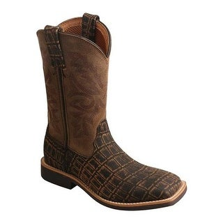 Twisted X Boots Children's YCW0011 Cowboy Work Boot Cayman Print/Bomber Leather