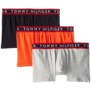 Tommy Hilfiger NEW Orange Gray Mens Size XL 3-Pack Assorted Boxer Brief