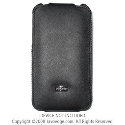 JAVOedge Classic Leather Flip Case for Apple iPhone 3G / 3GS - Black