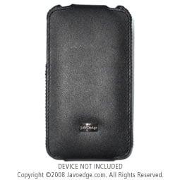 JAVOedge Classic Leather Flip Case for Apple iPhone 3G / 3GS - Black