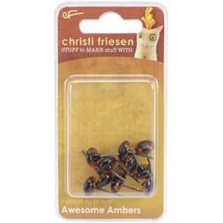 Awesome Amber - Christi Friesen Glass Eyes 9Mm 10/Pkg