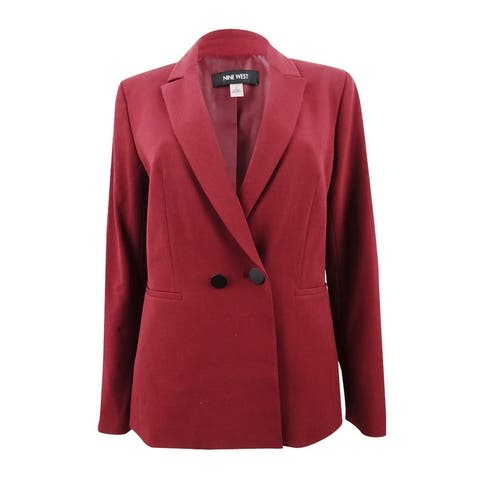 Nine West Women's Plus Size Double-Breasted Blazer