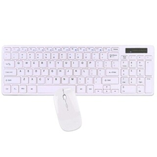 2.4GHz 95-Key Wireless Spill Resistant Multimedia Keyboard & Optical Mouse,White-(Certified Refurb)