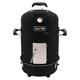 Dyna-Glo DGX376BCS-D Compact Charcoal Bullet Smoker - High Gloss Black
