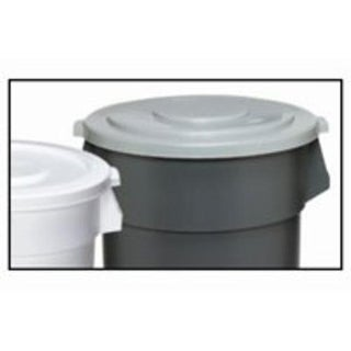 Continental 5501GY Huskee Refuse Container Lid Round, 55 Gallon, Grey
