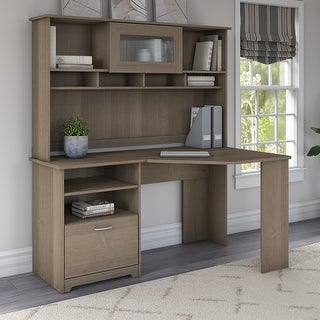 Link to Copper Grove Daintree Corner Desk with Hutch Similar Items in Desks & Computer Tables