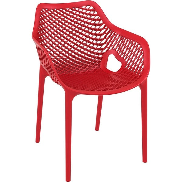 Compamia Air XL Outdoor Dining Arm Chair Set of 2 - Red