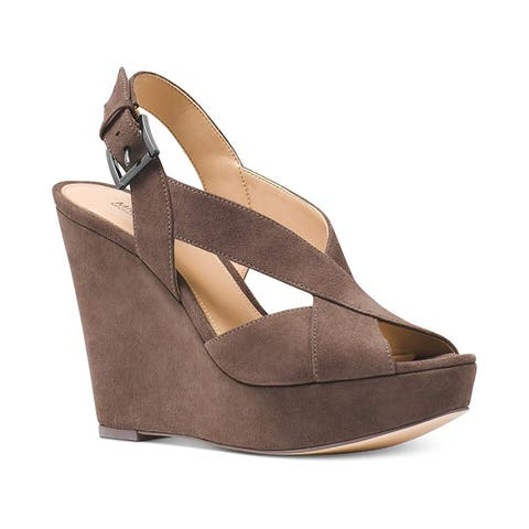 0a26697eb Michael Michael Kors Womens Becky Wedge Open Toe Casual Ankle Strap Sandals