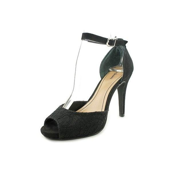 Style & Co Swifty Women Peep-Toe Synthetic Black Heels