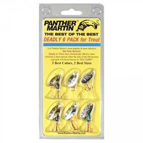Panther Martin DSG6 Deadly Holographic Spinner Lure, 6-Pack