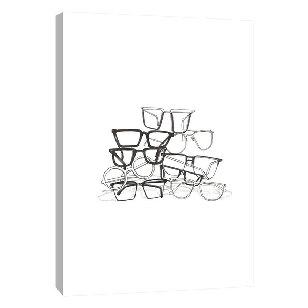 """PTM Images 9-105658 PTM Canvas Collection 10"""" x 8"""" - """"Glasses Jumble 3"""" Giclee Abstract Art Print on Canvas"""