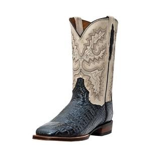 Dan Post Western Boots Mens Cowboy Denver Caiman Black Bone DP2805