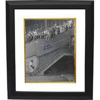 Don Newcombe signed Brooklyn Dodgers BW 16x20 Photo Custom Framed Dem Bums