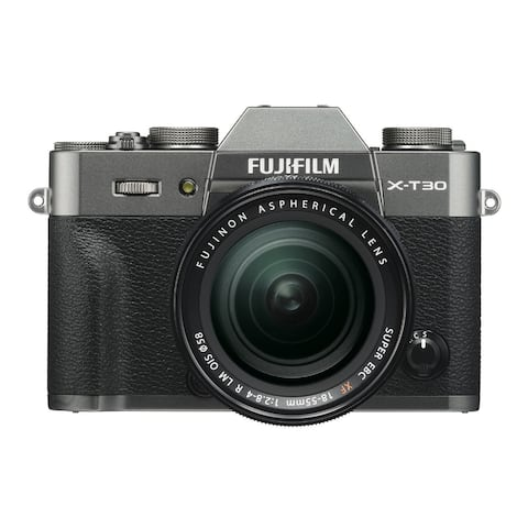 Fujifilm X-T30 Mirrorless Camera (Charcoal Silver) with 18-55mm Lens