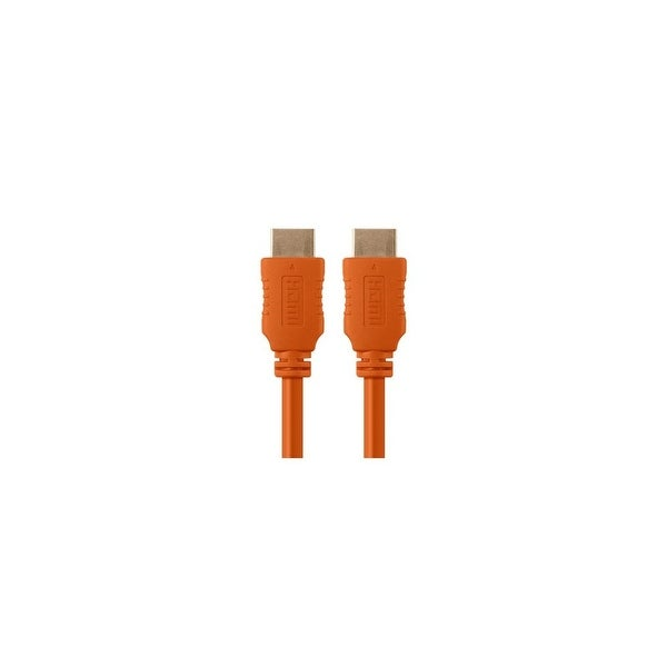 Monoprice 1.5 ft Select HDMI Cable - Orange Network Cable