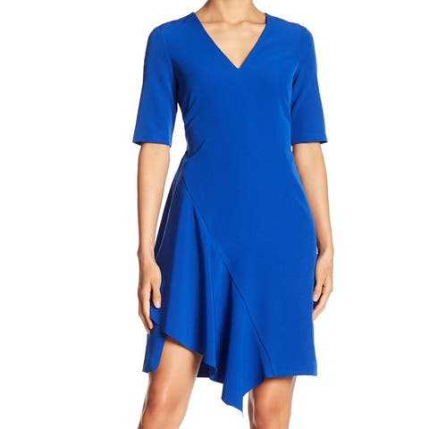 Maggy London Blue Dream Asymmetric Hem Women's Size 2 A-Line Dress