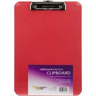 Red - Unbreakable Recycle Clipboard 1/Pkg