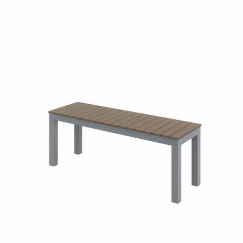 Calian Aluminum and Polymer Patio Bench by Havenside Home