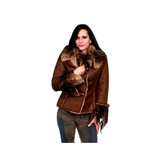 Scully Western Jacket Womens Long Sleeve Very Soft Faux Fur 8010