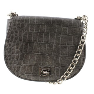 Bebe Womens Michelle Saddle Handbag Embossed Faux Leather - small (2 options available)