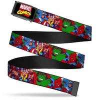 Marvel Comics marvel Comics Logo Fcg Black Red Yellow  Chrome 4 Web Belt