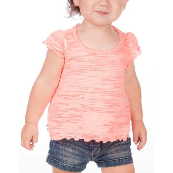 Kavio! Infants Burnout High Low Flutter Sleeve Top