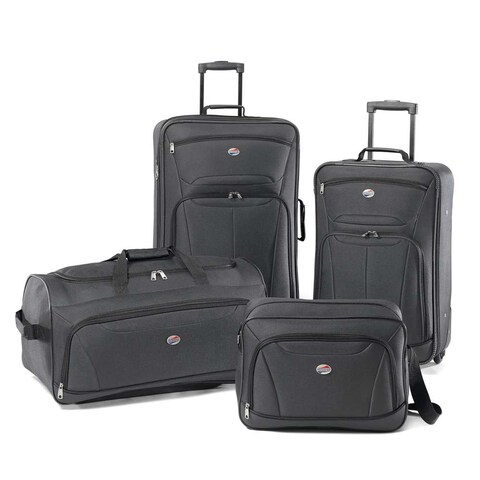 American Tourister Fieldbrook II 4 Piece Luggage Set, Charcoal