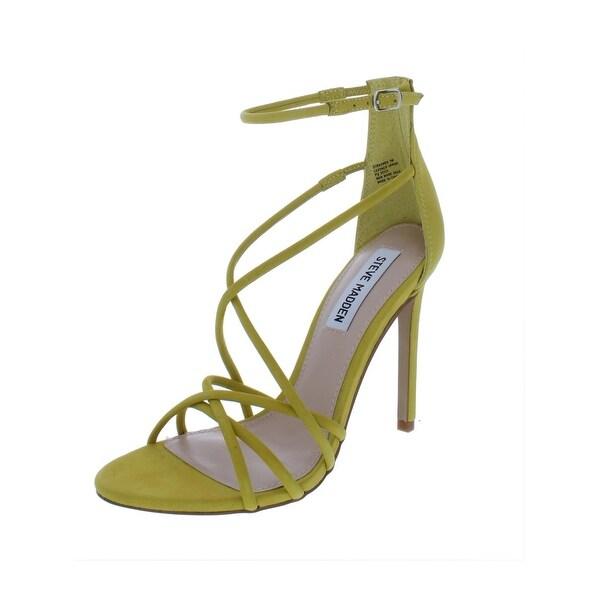 72a2f7827e9 Shop Steve Madden Womens Strapped Dress Sandals Nubuck Stiletto ...