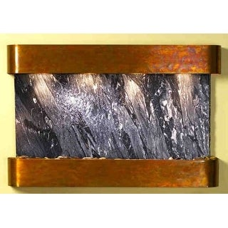 Adagio Sunrise Springs With Black Spider Marble in Rustic Copper Finish and Roun