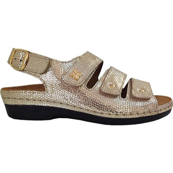 5bccd6ab9c4 Shop Helle Comfort Women s Taki Sandal Gold Leather - Ships To ...