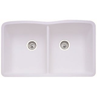 "Blanco 440185  Diamond 32"" Undermount Double Basin Composite Kitchen Sink"