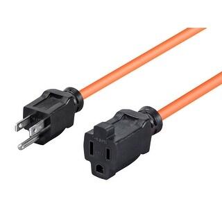 Monoprice 50ft 16AWG Orange Outdoor Power Extension Cord, 13A (NEMA 5-15P to NEMA 5-15R)