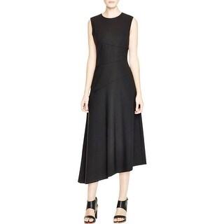 DKNY Womens Maxi Dress Midi Wool
