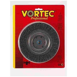 """Weiler 36006 Vortec Pro Wide Face Wire Wheel Brush, Carbon Steel, 8"""" Dia.